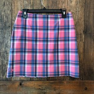 Lilly Pulitzer, 2, Pink & Blue Plaid Skirt